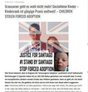 A thumbnail of a german website article on our story