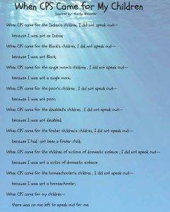 DARE to CARE forced adoption poem