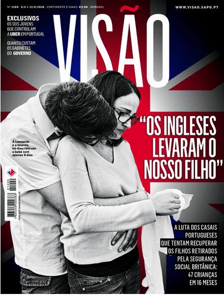 Portuguese Media front page visa magazine